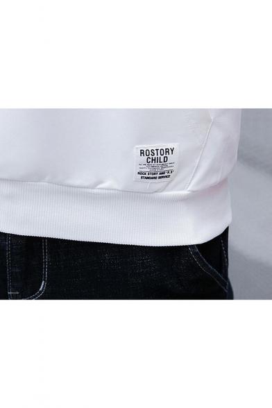 Unique Cartoon Smile Face Earphone Printed Patchwork Unisex Long Sleeve Pocket Drawstring Hoodie
