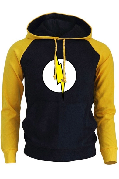 New Stylish Long Sleeve Printed Sports Drawstring Hoodie for Guys