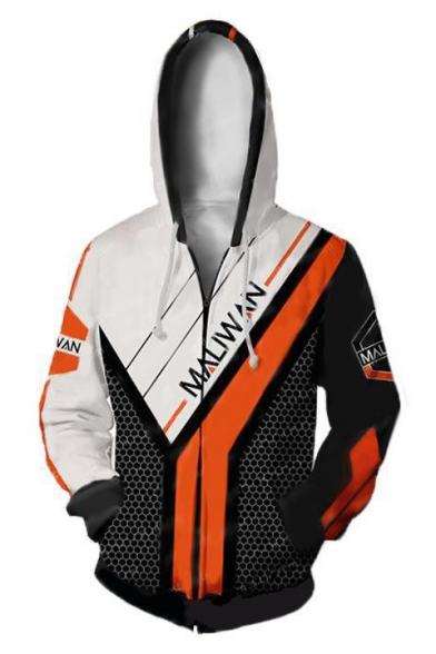 New Stylish Fashion Long Sleeve Comic Cosplay Costume Zip Up Sport Loose Hoodie