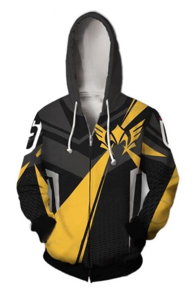 Popular Comic Cosplay Costume 3D Pattern Long Sleeve Unisex Sport Zip Up Hoodie