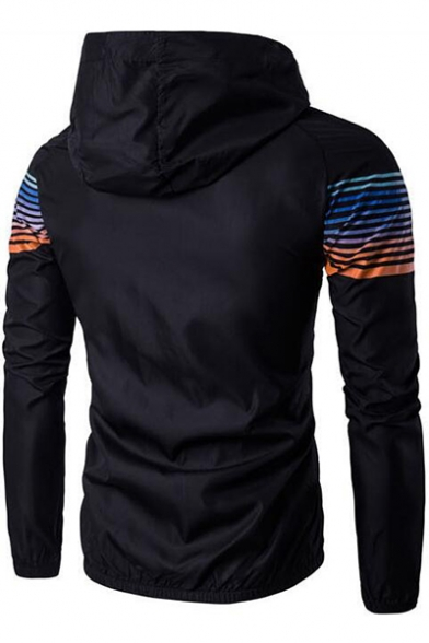 New Chic Simple Striped Long Sleeve Quick Drying UV Protection Zip Up Sport Track Jacket