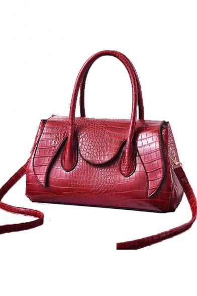 New Fashion Crocodile Pattern Commuter Tote Handbag for Women 33*16*20 CM
