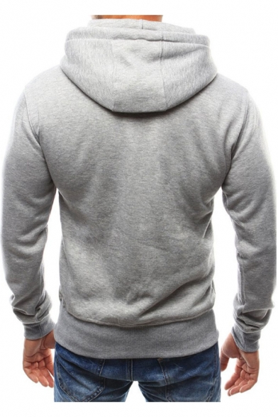 Hot Fashion Colorful Letter Long Sleeve Casual Drawstring Hoodie for Men