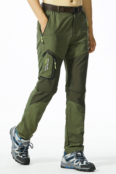 Men's Outdoor Fashion Letter Printed Zipped Pocket Waterproof Quick-drying Sports Hiking Pants