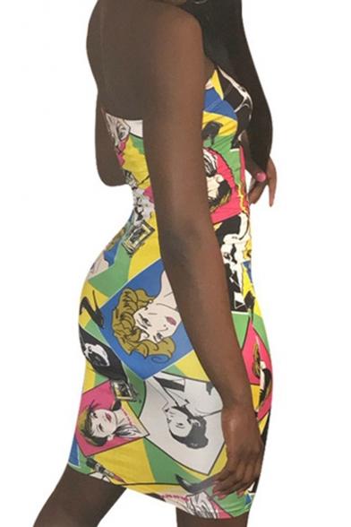 Fashion Hot Sexy Womens Strapless Sleeveless Skinny Fitted Mini Bandeau Dress