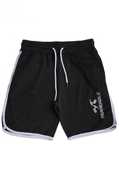 Men's Popular Graphic Printed Drawstring Waist Running Sport Shorts