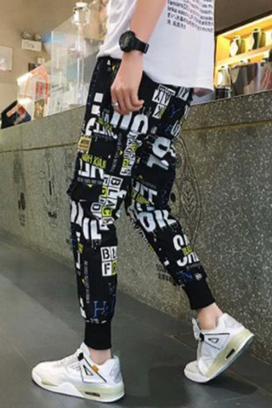 Men's Street Style Trendy Camouflage Printed Flap Pocket Casual Cargo Pants