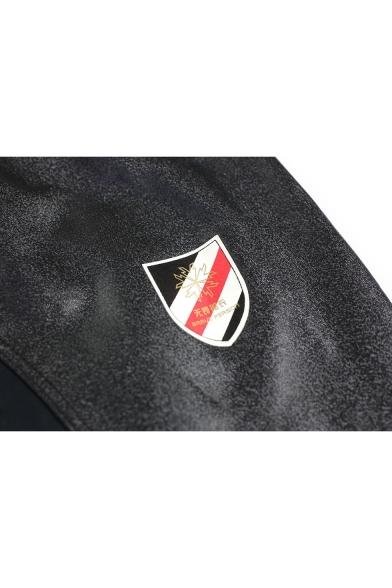 Men's Cool Fashion Badge Logo Pattern Skinny Fitness Shorts