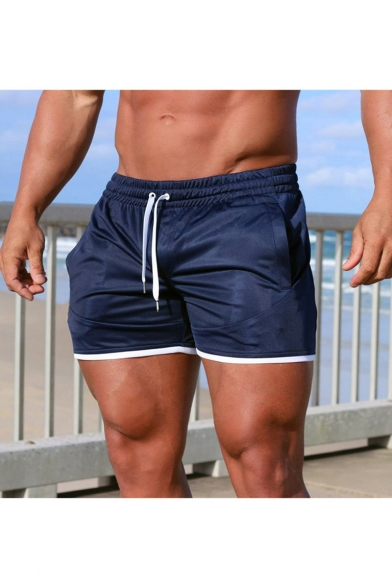 Men's Summer Fashion Cool Camouflage Printed Drawstring Waist Mesh Cloth Training Shorts