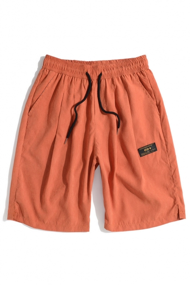 Men's Summer New Fashion Drawstring Waist Casual Cotton Relaxed Athletic Shorts