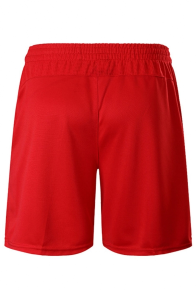 Men's Summer Stylish Stripe Printed Elastic Waist Loose Fit Sports Active Shorts