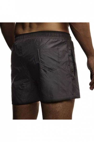 Men's Cool Fashion Camouflage Print Drawstring Waist Sport Shorts Swim Trunks