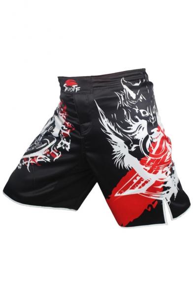 Men's Popular Fashion Skull Printed Professional Boxing Shorts