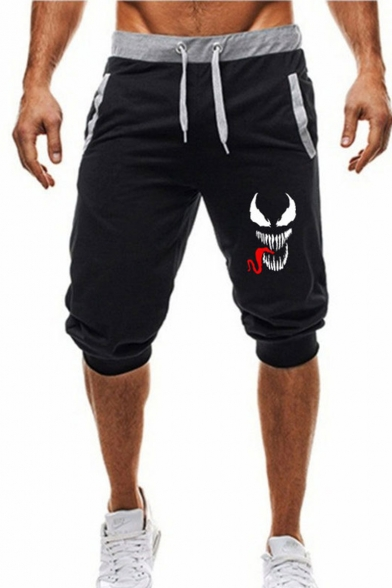 Men's Summer Hot Fashion Printed Drawstring Waist Casual Sports Sweat Shorts