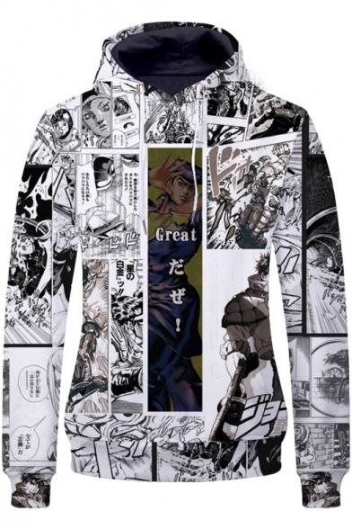Popular Fashion Comic Cartoon Figure Printed Long Sleeve Pullover Hoodie