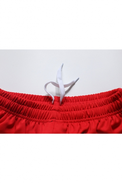 Men's Summer Trendy Arrow Logo Printed Elastic Waist Relaxed Sports Sweat Shorts