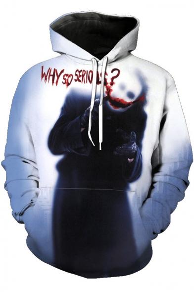 Popular Clown Joker WHY SO SERIOUS Print Long Sleeve Unisex Pullover Hoodie