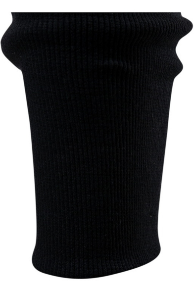Men's New Fashion Zipper Embellishment Drop-Crotch Drawstring Waist Black Plain Joggers Hip Hop Harem Pants
