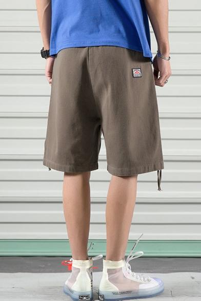 Men's Summer Stylish Personalized Zipped Pocket Design Casual Loose Cargo Shorts