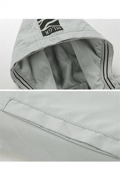 Teenagers Fashion Basic Long Sleeve Hooded Zip Up Jacket Coat