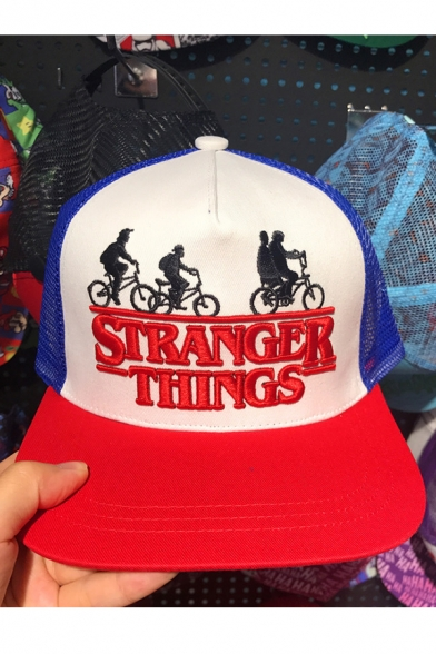 Trendy Letter Embroidery Mesh Patched Hip Hop Baseball Cap