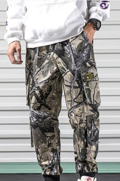 Stylish Camouflage Pattern Multi-pocket Design Casual Cargo Pants