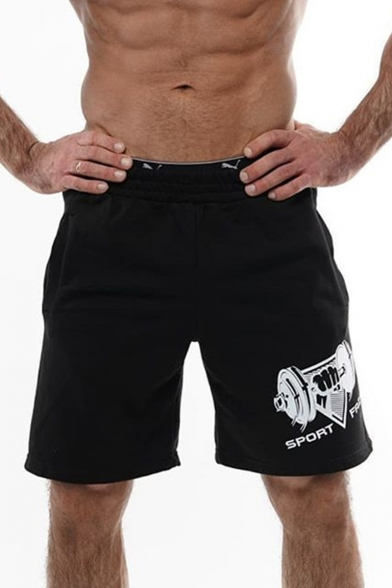Summer New Fashion Graphic Printed Elastic Waist Casual Loose Sport Athletic Shorts for Men