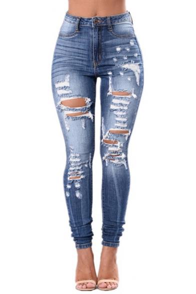 destroyed denim skinny jeans womens