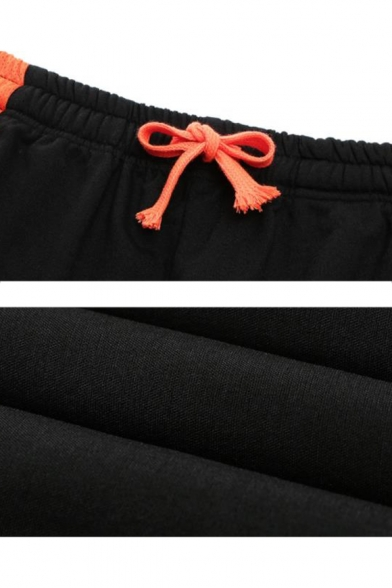Men's Summer New Fashion Colorblock Mesh Cloth Patched Drawstring Waist Casual Sports Athletic Shorts