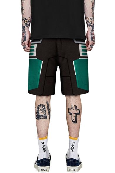 Summer Hot Fashion 3D Cosplay Printed Drawstring Waist Casual Relaxed Shorts