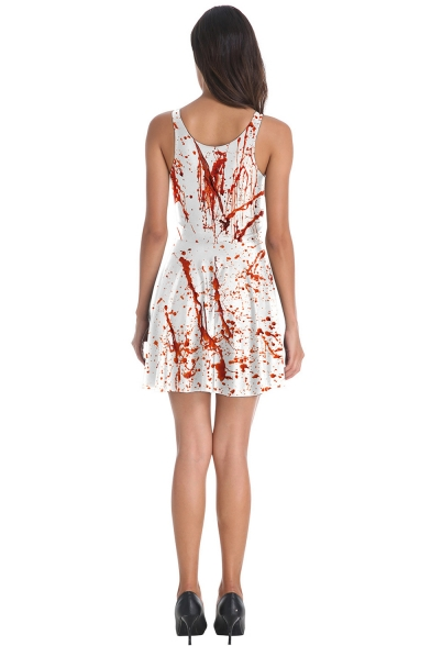 Womens Fashion Sleeveless Halloween Style Tank Dress for Dance Party