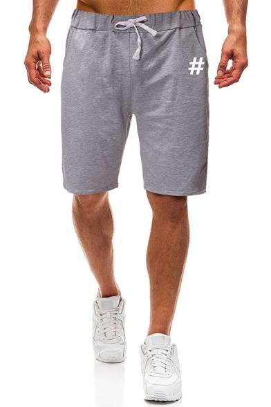 Summer New Fashion Symbol Print Drawstring Waist Loose Fit Running Shorts Sweat Shorts