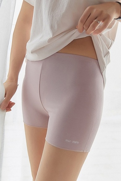 Girls Summer Ultra-Thin Modal Stretch Fit Safety Pants Under Shorts