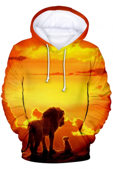 Hot Popular The Lion King 3d Printed Long Sleeve Casual Unisex Hoodie Beautifulhalo Com