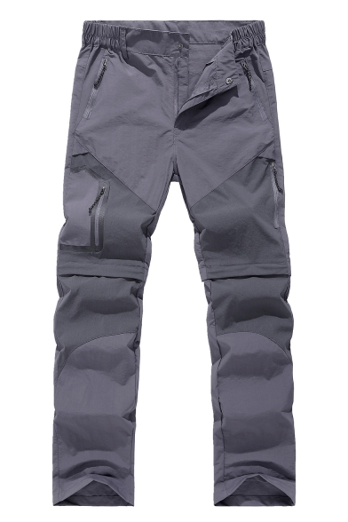 Men's New Fashion Solid Color Multi-pocket Waterproof Quick-drying Sports Hiking Pants