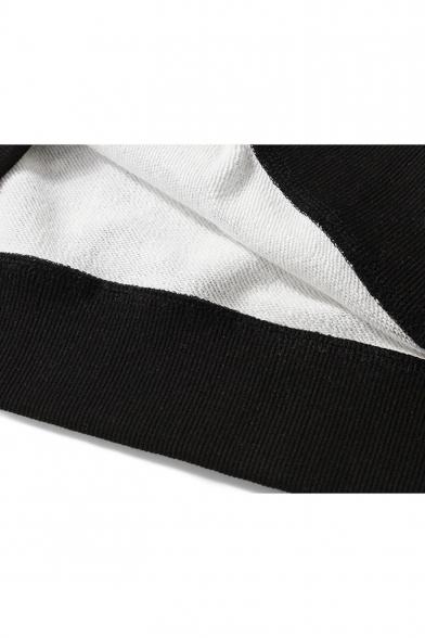 Cartoon Shark Camouflage Printed Long Sleeve Round Neck Dark Grey Pullover Sweatshirts
