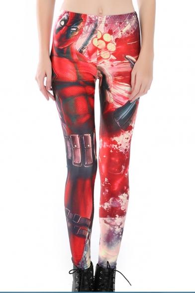 Hot Popular Red 3D Figure Printed Sport Athletic Fitness Yoga Leggings