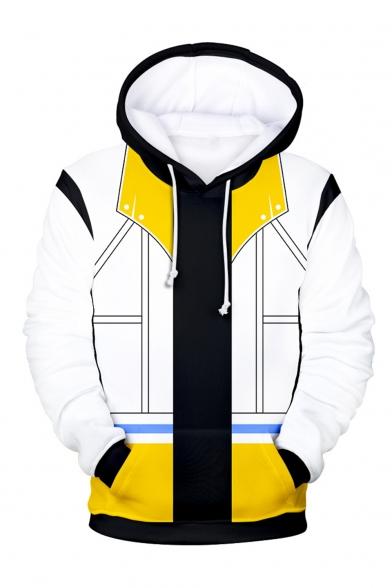 Popular Kingdom Hearts 3D Printed Cosplay Costume Drawstring Hooded Long Sleeve Casual Loose Hoodie