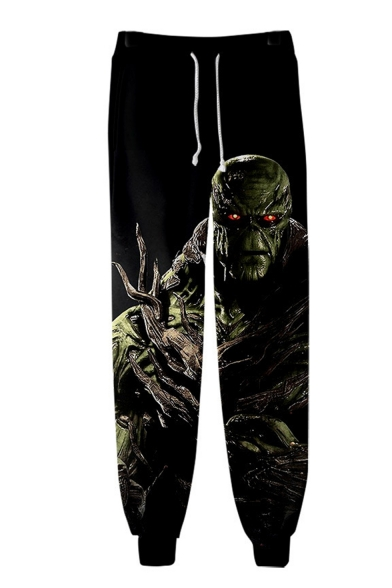 Cool Fashion Swamp Monster 3D Printed Drawstring Waist Loose Fit Casual Cotton Sweatpants