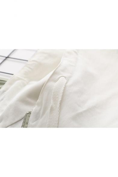 Casual Loose Leisure Plain Hooded Long Sleeve Zip Up Jacket Coat
