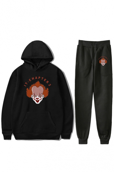 Fashionable IT Clown Figure Pattern Sport Hoodie with Joggers Sweatpants Co-ords