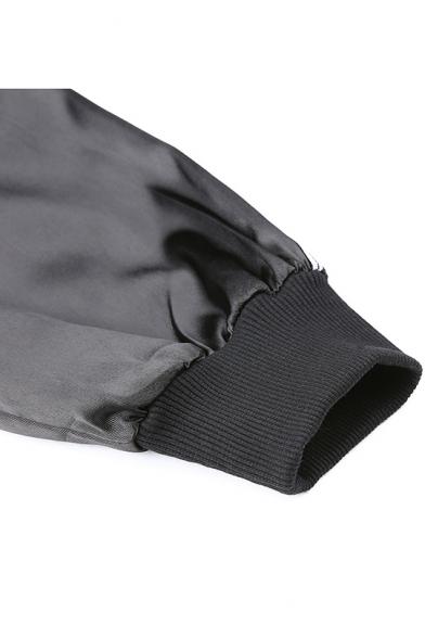 Woemns Cool Punk Style Black Stripe Long Sleeve Buckled Detail Crop Hoodie