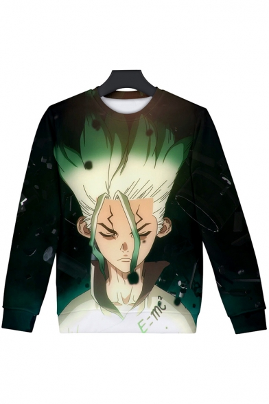 Fashion Comic Character 3D Print Long Sleeve Round Neck Unisex Sweatshirt