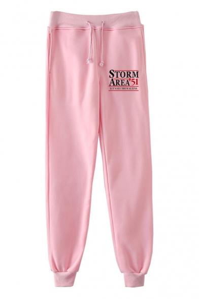 New Fashion Storm Area Printed Drawstring Waist Sport Joggers Sweatpants