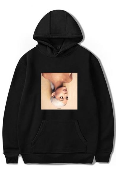 Popular Singer Figure Printed Unisex Loose Fitted Hoodie