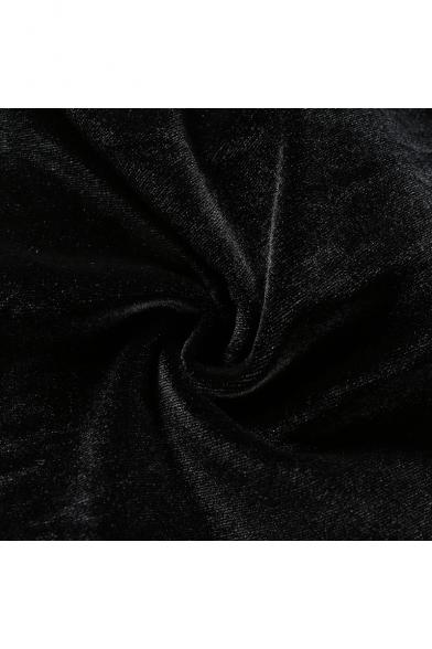 Women's Unique Creative Fire Heart Print Spaghetti Straps Black Cropped T-Shirt