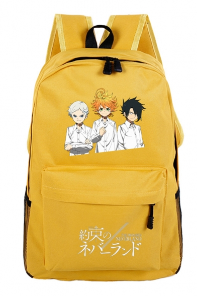 The Promised Neverland Comic Figure Pattern Unisex Students School Bag Backpack 32*16*46cm