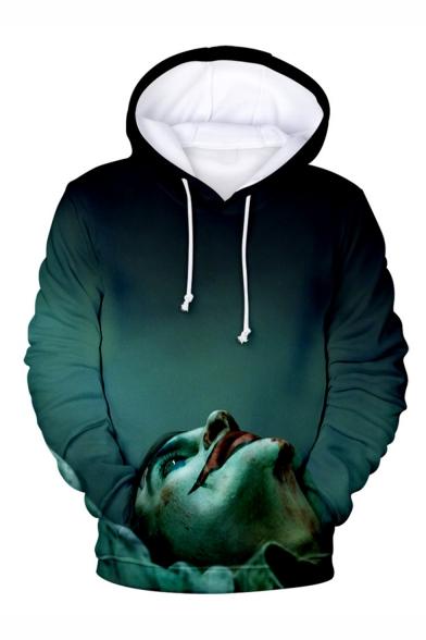 Hot Popular Clown Joker 3D Printed Drawstring Hooded Long Sleeve Casual Loose Hoodie