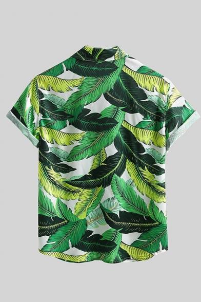 Swyss Mens Cotton Linen T-Shirt Fashion Geometric Print Button-Down Short Sleeve Holiday Casual Tee Tops