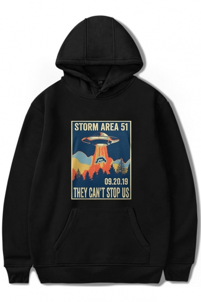 Hot Trendy Storm Area Printed Long Sleeve Casual Sport Pullover Hoodie